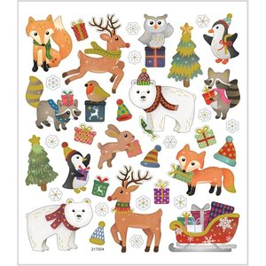 Seal Sticker with Gold Foil | Christmas Animals
