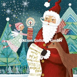 Mila Marquis Postcard Christmas | Santa with wishlist