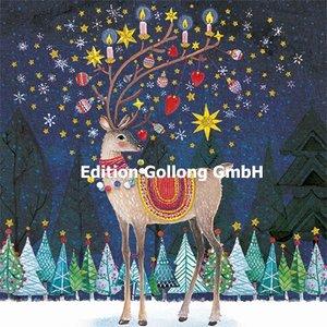 Mila Marquis Postcard Christmas   Deer