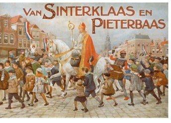Postcard | Omslag van 'Van Sinterklaas en Pieterbaas