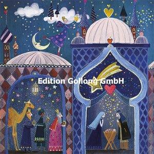 Mila Marquis Postcard Christmas | Nativity scene and holy three kings