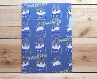 Machiko Bunny Collection A4 Plastic File Folder