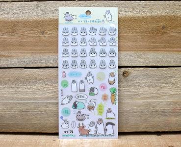 Machiko Bunny Clear Stickers