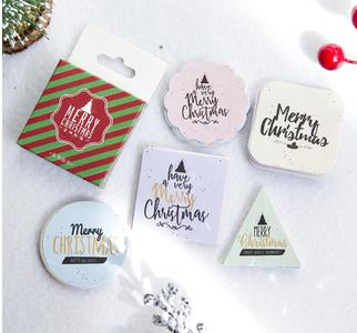 Sticker Flakes Box | Merry Christmas