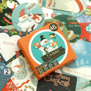 Sticker Flakes Box | Merry Christmas Snowman