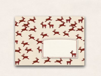 10 x Briefumschläge TikiOno | Rentiere