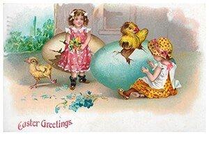 Victorian Postcard | A.N.B. - Easter greetings