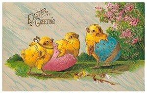 Victorian Postcard   A.N.B. - Easter greetings