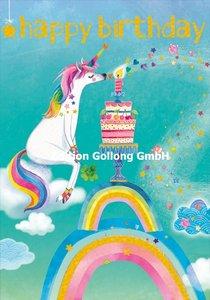 Mila Marquis Double Card | Happy Birthday - Unicorn