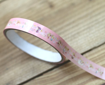 Amy and Tim Medium Adhesive PVC Deco Tape   Pink