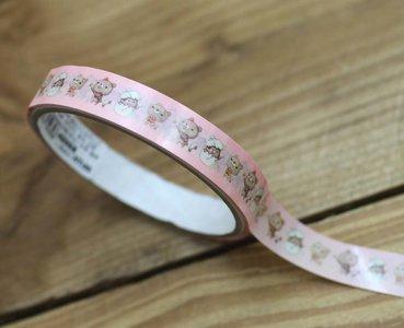 Honey Bear Medium Adhesive PVC Deco Tape | Pink
