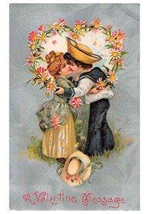 Victorian Valentine Postcard | A.N.B. - A valentine message