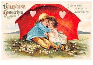 Victorian Valentine Postcard | A.N.B. - Valentine greeting