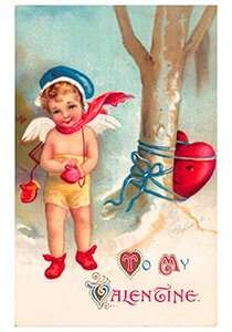 Victorian Valentine Postcard | A.N.B. - To my valentine