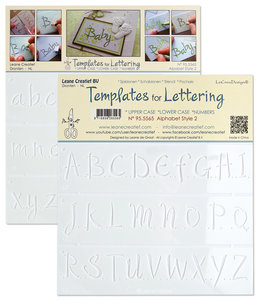 2 Templates for Handlettering Alphabet style 1, Upper case+ Lower case+Numbers