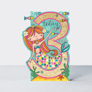 Rachel Ellen Designs Cards - Little Darlings - Age 3 Girl/Mermaid