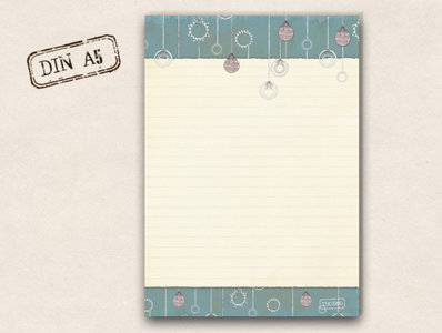 A5 Letter Paper Pad TikiOno | Christmas balls