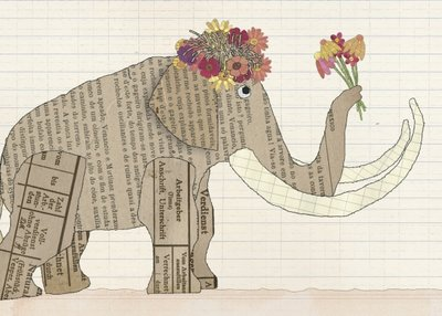 Postkarte Mammutgrüße