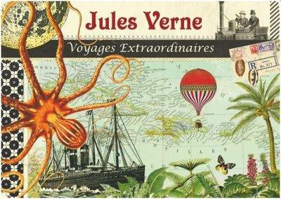 Illustrated notebook Gwenaëlle Trolez Créations - Jules Verne