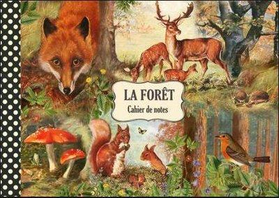 Illustrated notebook Gwenaëlle Trolez Créations - La Forêt