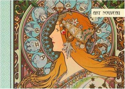 Illustrated notebook Gwenaëlle Trolez Créations - Art Nouveau