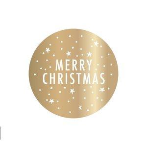 X-mas Stickers - Gold - Merry Christmas