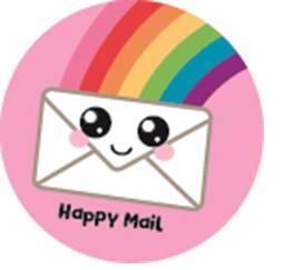 5 Stickers   Happy Mail Rainbow