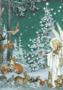 Postcard Molly Brett | Woodland Creatures Gather Around an Angel