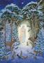 Postcard Molly Brett | Virgin and Child in woods at night