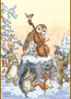 Postcard Molly Brett   A tune for Christmas