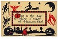 Victorian Halloween Postcard   A.N.B. - This is the day to make a night of halloween