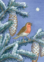Postcard Molly Brett | Winter robin