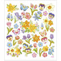 Seal Sticker with Gold Foil | Flowers