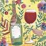Cartita Design Postcard   Wine