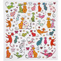 Seal Sticker with Silver Foil | Cats