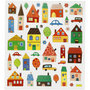 Seal Sticker with Silver Foil | Houses