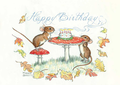 Postcard Molly Brett | Happy Birthday Mice
