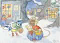 Postcard Molly Brett | A Victorian Christmas Scene