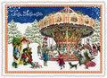 Postcard Edition Tausendschoen Christmas - Frohe Weihnachten Karusell