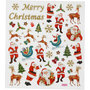 Seal Sticker with Gold Glitter | Santa Claus and Reindeer