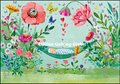 Mila Marquis Double Card   Baby with Flowers