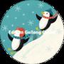 Round Postcard Shutterstock Christmas   Penguin