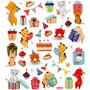 Seal Sticker with Glitter Foil   Birthday Cats