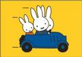 Nijntje Miffy Postcards   Nijntje in de auto
