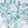 Sticker Flakes Box | Mint Diary - Cute Leaves