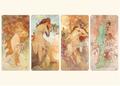 Postcard Tushita Fine Arts | Alphonse Mucha - The Seasons