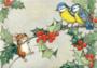 Postcard Molly Brett | On a Holly Tree Branch_