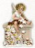 Shaped Postcard Edition Tausendschoen Specials | Christmas Angel WITH ENVELOPE_