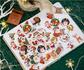Sticker Flakes Box Yuxian | Merry Christmas_