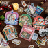 Vintage Sticker Flakes Sack | Christmas Wreaths _
